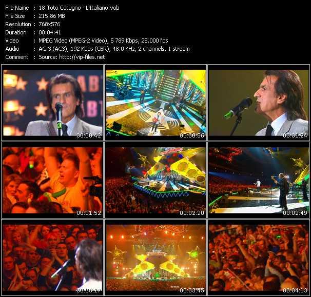 Toto Cotugno - video clip - L'Italiano (Live From Moscow) - VOB