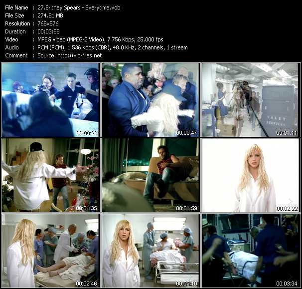 Britney Spears Video Clip Everytime Vob