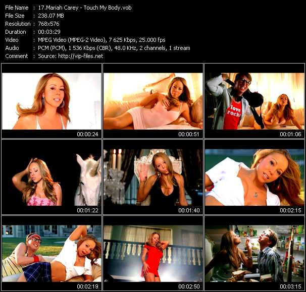 Mariah Carey Video Clip Through The Rain Maurice Joshua Club Edit Touch My Body Seamus Haji Club We Belong Together Peter Rauhofer Club Edit