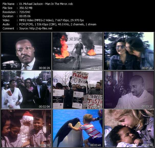 Download man in the mirror (michael jackson) full hd video song.