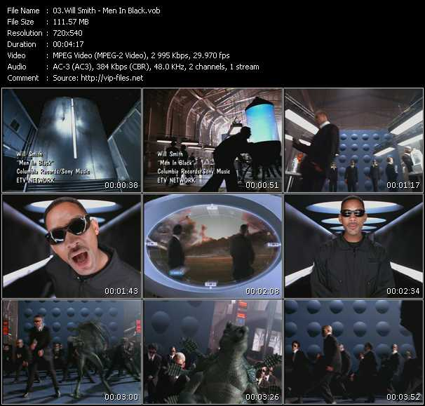 Will Smith Video Clip Men In Black Vob