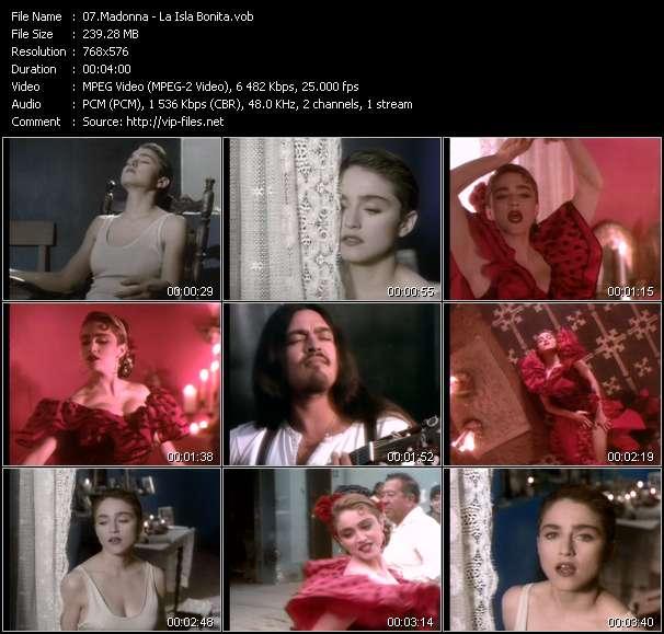Madonna - video clip - La Isla Bonita - VOB