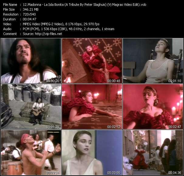 Madonna - video clip - La Isla Bonita (A Tribute By Peter