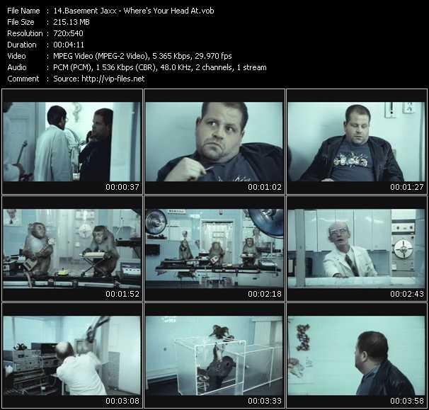 basement jaxx video clip where 39 s your head at