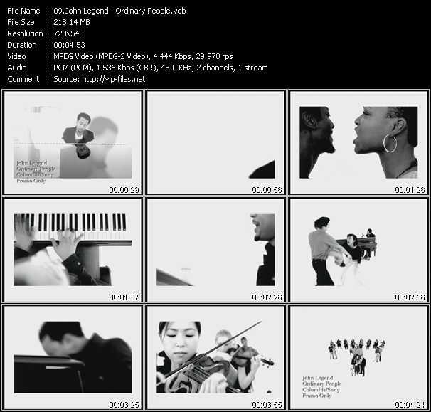 john legend slow dance  music video